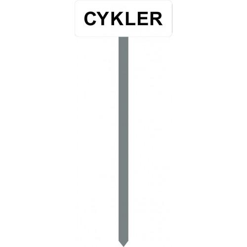 1086H-1-120cm-15x40cm CYKLER Parkeringsspyd