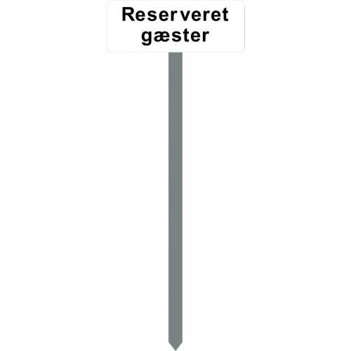 1086H-10-120cm15x40cm Reserveret gæster Parkeringsspyd