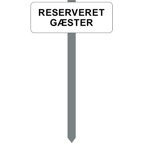 1086H-18-15x40cm RESERVERET GÆSTER P-spyd