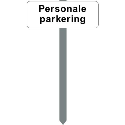 1086H-7-15x40cm Personale parkering P-spyd