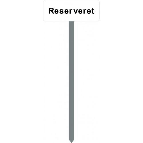 1086H-9-120cm15x40cm Reserveret Parkeringsspyd