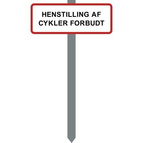 1086R-14-15x40cm HENSTILLING AF CYKLER FORBUDT p-spyd