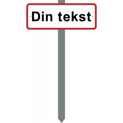 PARKERINGSSPYD DIN TEKST SKILT 15X40 CM (R)
