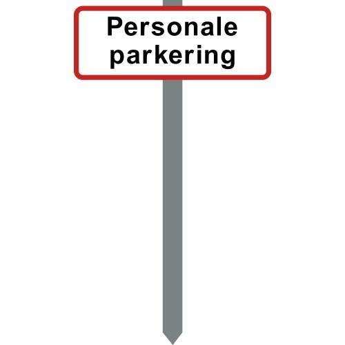 1086R-7-15x40cm Personale parkering P spyd
