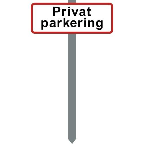 1086R-8-15x40cm Privat parkering P-spyd