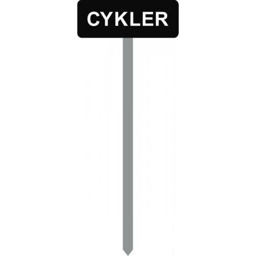 1086S-1-120cm-15x40cm CYKLER Parkeringsspyd