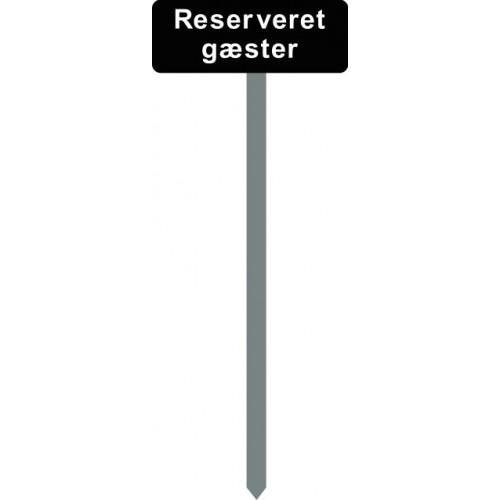 1086S-10-120cm15x40cm Reserveret gæster Parkeringsspyd