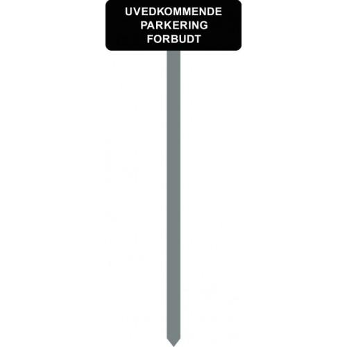 1086S-12-120cm15x40cm UVEDKOMMENDE PARKERING FORBUDT Parkeringsspyd