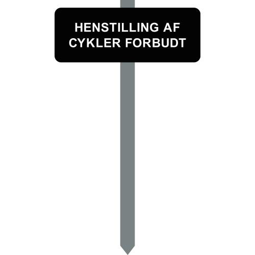 1086S-14-15x40cm HENSTILLING AF CYKLER FORBUDT p-spyd