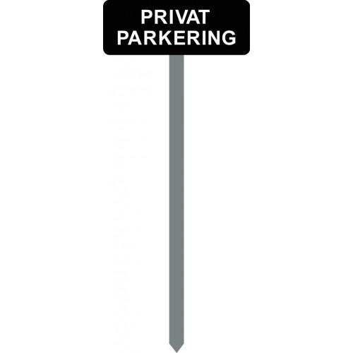 1086S-16-120cm15x40cm PRIVAT PARKERING Parkeringsspyd