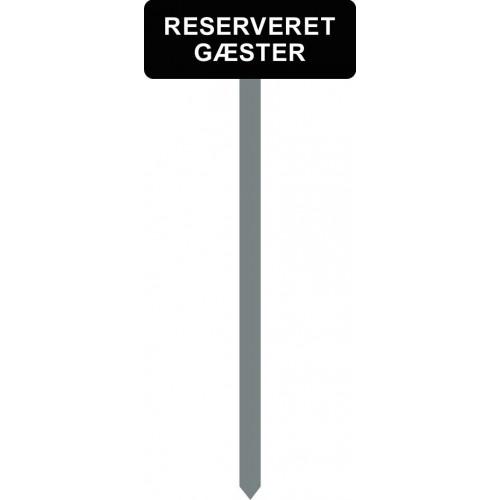 1086S-18-120cm-15x40cm RESERVERET GÆSTER Parkeringsspyd