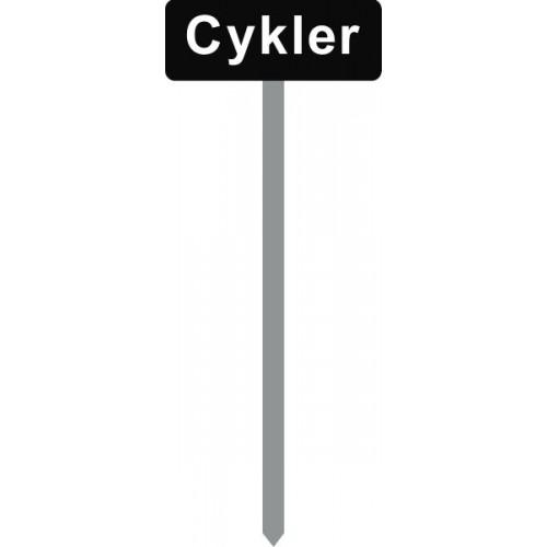 1086S-2-120cm-15x40cm Cykler Parkeringsspyd