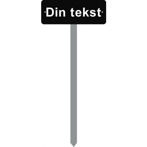 1086S-26-120cm 15x40cm DIN TEKST parkeringsspyd1086S-26-120cm 15x40cm DIN TEKST parkeringsspyd