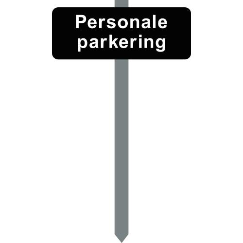 1086S-7-15x40cm Personale parkering P-spyd