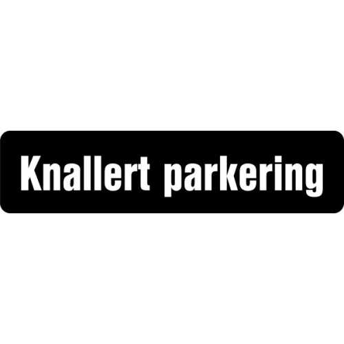 1099-1 S 12x50cm Knallert parkering