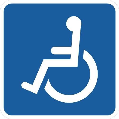 Handicapskilt / Invalideskilt 50x50 cm
