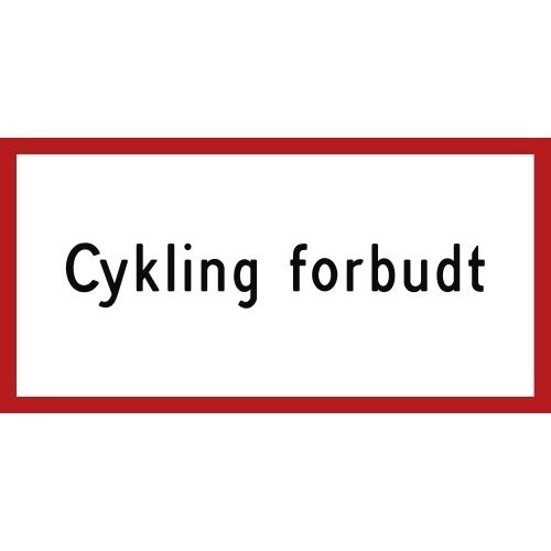 1099-20R Cykling forbudt 20x40 cm