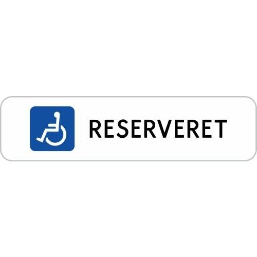 1099-3-10x40H Handicap reserveret skilte