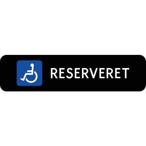 1099-3-10x40S Handicap reserveret-skilte