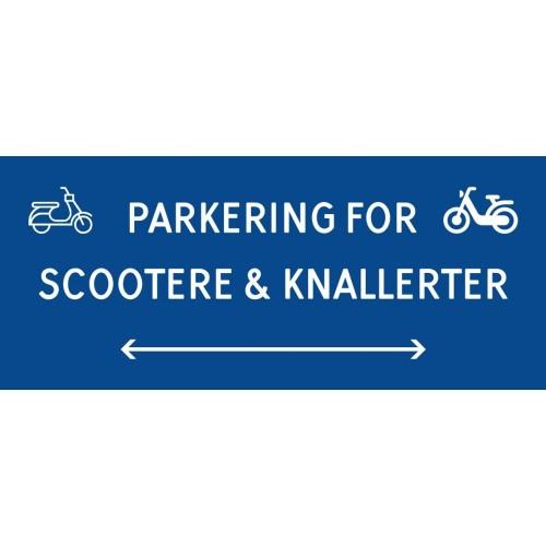 1099-30x70-100B Scooter & knallert parkering dobbeltpil