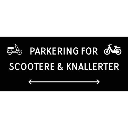 1099-30x70-100S Scooter & knallert parkering dobbeltpil