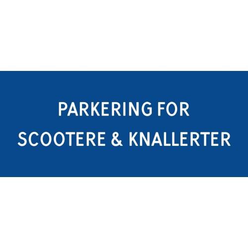 1099-30x70-101B Scooter & knallert parkering
