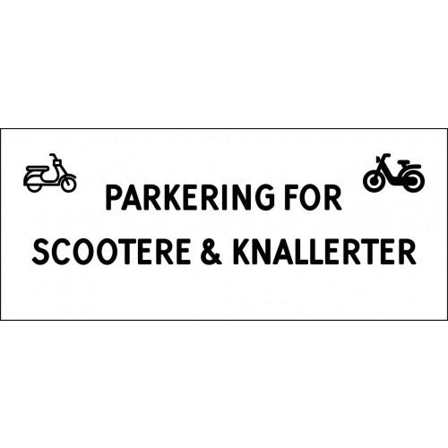 1099-30x70-101H Scooter & knallert parkering