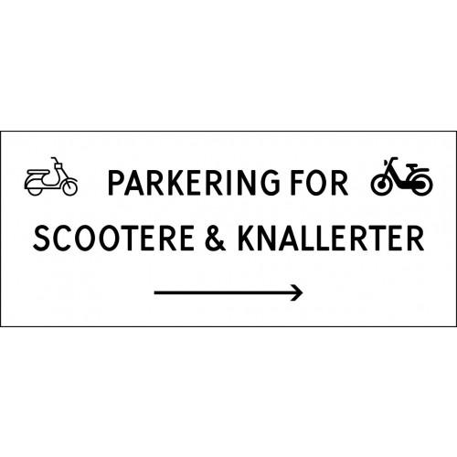 1099-30x70-102H Scooter & knallert parkering højrepil