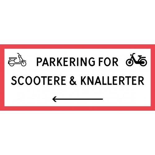 1099-30x70-103R Scooter & knallert parkering venstrepil