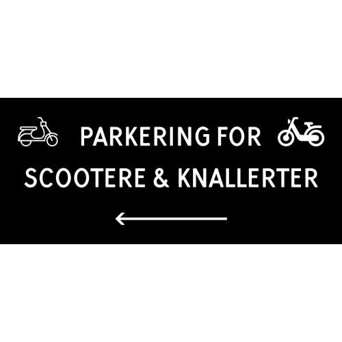 1099-30x70-103S Scooter & knallert parkering venstrepil