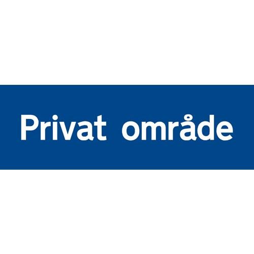 Privat område 20x60 cm - Aluskilt