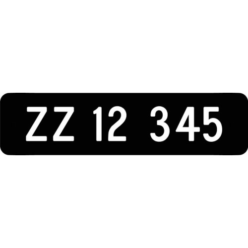 1100-3-10x40S REG NR Parkeringsskilte