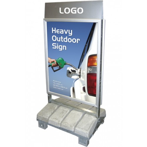GADESKILT Model 137 Heavy Outdoor Sign - Beton