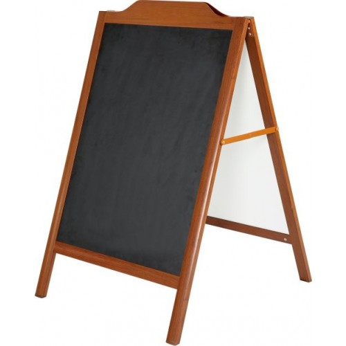"GADESKILT ""TRÆ"" LOOK MODEL 169 (A-Board Wood-Look with decorative top)"