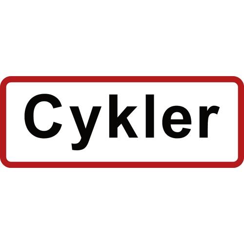 Cykler 15x40 cm Parkeringsskilte RØD KANT