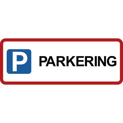 PARKERING med pictogram 15x40 cm Parkeringsskilte