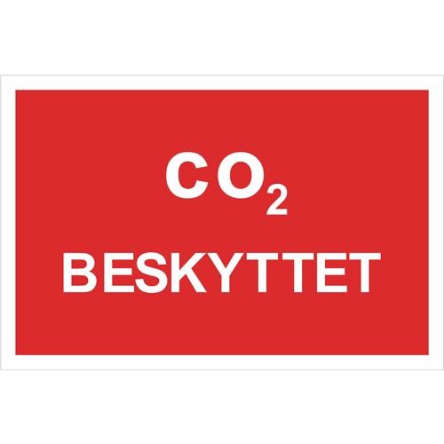 B231 CO2 Beskyttet - Aluskilt 20x30cm