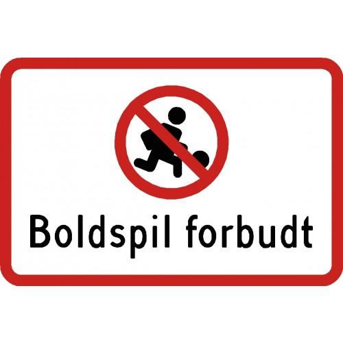 Boldspil forbudt aluskilt 20x30 cm