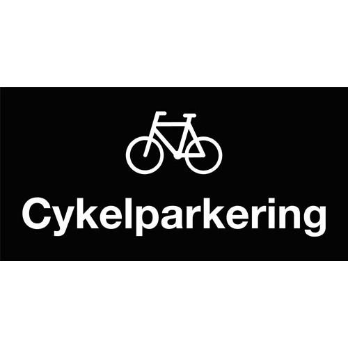 Cykelparkering - Aluskilt