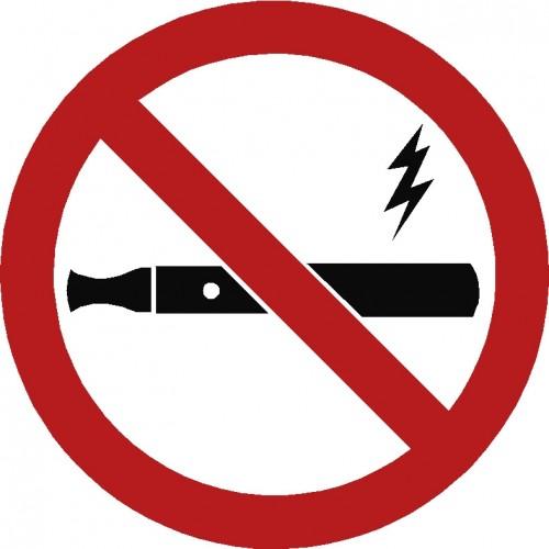 E cigaret forbudt Piktogram ASS-2