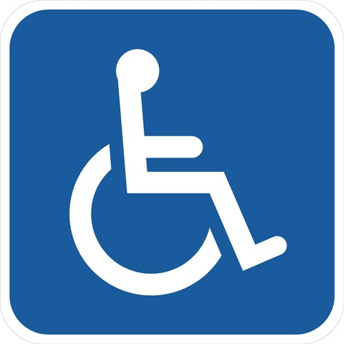 Handicapskilt 40x40 cm - Invalideskilt 40x40 cm