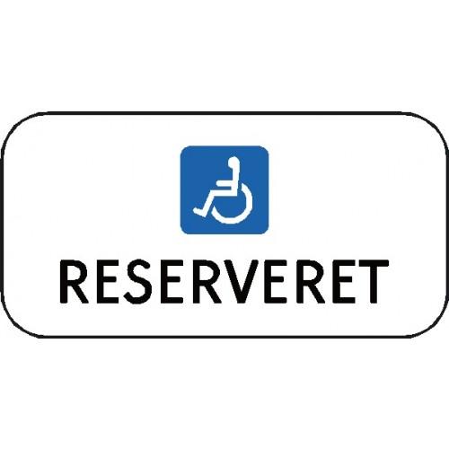 Handicapskilt RESERVERET Aluskilt