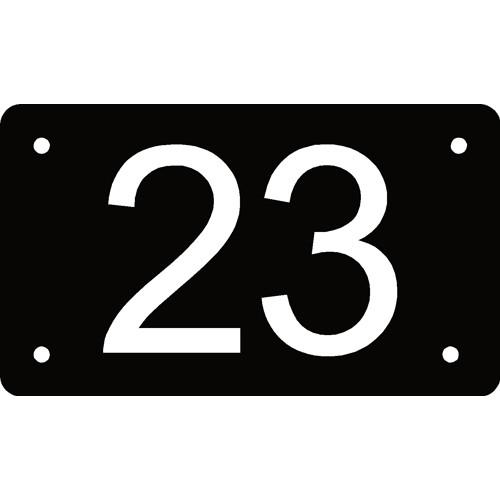 Husnummer skilt Skilt i 3mm sort Alupanel