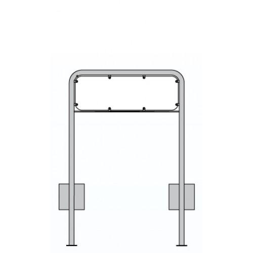 Lav galge 2-LG1 til skilt 25x50 cm
