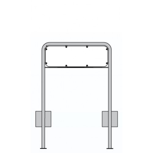 Lav galge 2-LG1 til skilt 30x70 cm