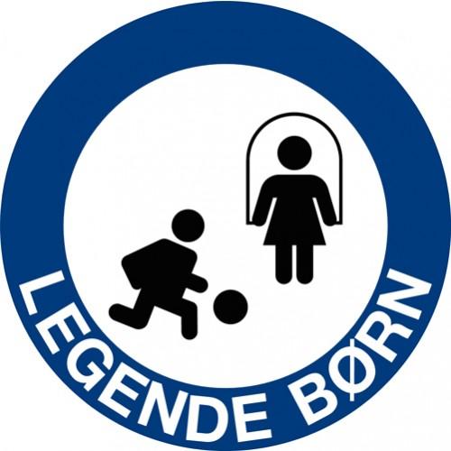 Legende børn skilt blå