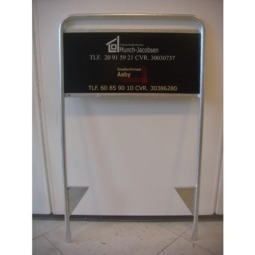 Håndværkerskilt Byggepladsskilt 30x60 cm Dobbeltsidet-31