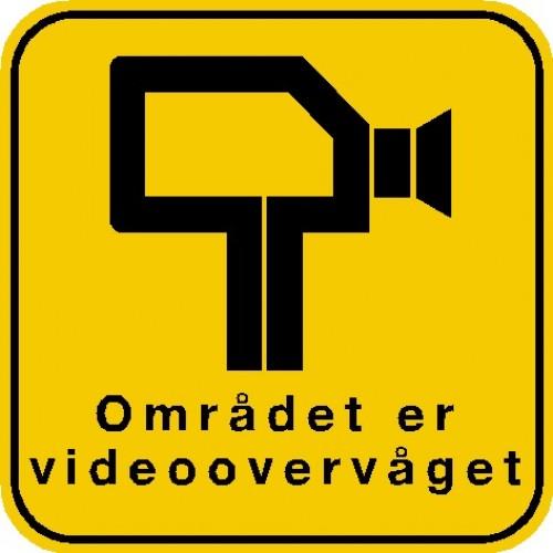 Området er videoovervåget 40x40 cm Aluskilte
