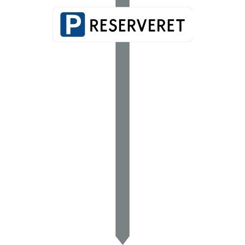 Parkeringsspyd med handicapskilt & reg.nr.