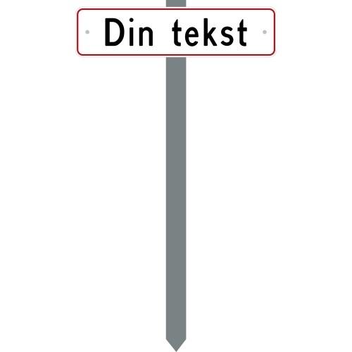 PARKERINGSSPYD DIN TEKST SKILT 10X40 CM (R)